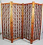 Scandinavian 4 Panel Teak Screen