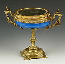 Bronze and Porcelain Dresser Box