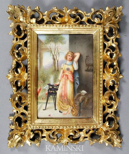 19th C. Italian Porcelain Plaque