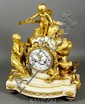 18th C. Louix XVI Figured Marble and Gilt Bronze Clock
