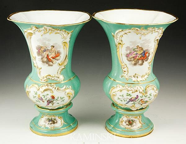 19th C. German Pair Urns
