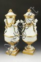 Pair German Porcelain Urns