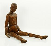 19th C. Wooden Mannequin