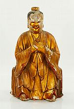 18th/19th C. Gilt Wood Figure