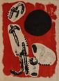 Joan MIRO (1893-1983).  Antilopes.  Lithographie en couleurs, épreuve signée et justifiée H.C.  39.5 x 28 cm.  Très bon état.