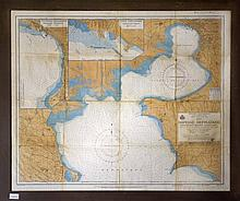 THERMAIKOS KOLPOS (NORTH PART), 1952, Greek Royal Navy Hydrographic Service. Map of Thermaikos gulf with two inset maps of