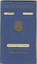 Dodecanese Italian Occupation. Passport issued in 1933. Variety of Italian & Turkish cachets and fiscals.