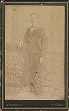 G. MORAITES - Γεώργιος Μωραϊτης. ROYALTY CDV portrait of a Greek prince.