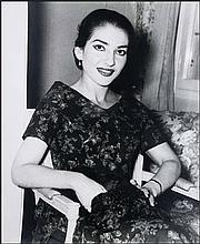 Maria CALLAS. Large photograph dim. 51x61cm! portrait of the influential Greek soprano.