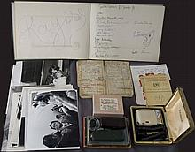 Alexander IOLAS. A collection of items, bearing aspects from the everyday life and the artistic activities of the famous gallery owner. A Guestbook from Galleria Iolas - Milano exhibitions between 1966 and 1968 with thousands signatures of important