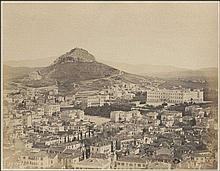 Athens Panorama early c.1870. Albumen photo (27x21cm)