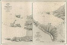 Two engraved maps in one frame: Asie Mineure, Golfe de Kos / Iles SHEHIR OGHLAN & PORT DE GALLIPOLI...