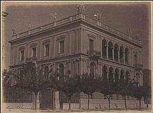 Athens 1902. TATOI & Schliemann's house. Two albumen photos