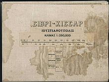 SIVRIHISAR (Ioustinianoupolis): 1920's Greek topographical map