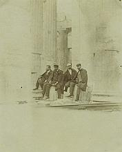 Photograph of Herzl and the Zionist Delegation in Athens, 1898