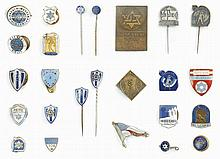 Collection of Pins and a Plaque - Maccabi Sports Clubs in Europe