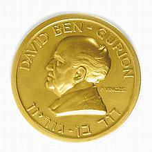 Gold Medal - Portrait of Ben-Gurion