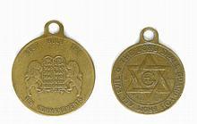 Two Pendants - Ten Commandments / Menorah