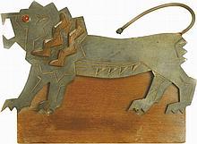Meggido Lion - Statuette Created by Bezalel Schatz