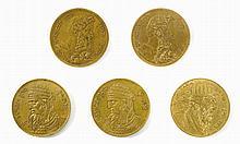 Five Medals - King David / Aaron the Priest / Moses - Paris, 1827 - Variants