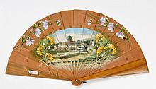 Painted Hand-Held Fan -