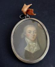 Antique Portrait Miniature of a Gentleman