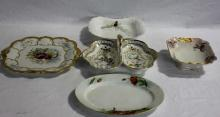 5 Antique French & German Porcelain Serving Pieces