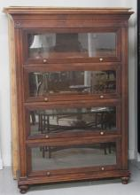 Contemporary Mahogany Barrister Bookcase
