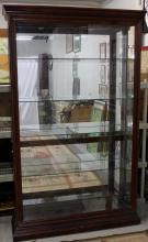 Large Mahogany Display Case Curio Cabinet