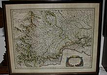 Antique Copperplate Map of Italy