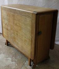 Oak Drop Leaf Country Style Table/Cabinet.
