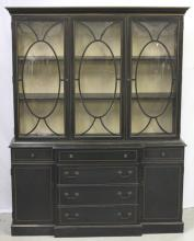 Mid Century China Cabinet Breakfront