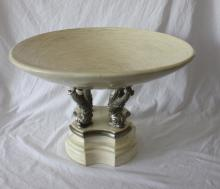 Large Contemporary Dolphin Base Compote