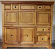Contemporary Pine Drop Front Secretary Desk