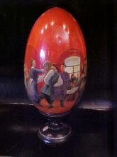 Signed by top quality artist Russian beautiful detailed handpainted egg