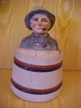 Old Salt ceramic tobacco jar hand painted