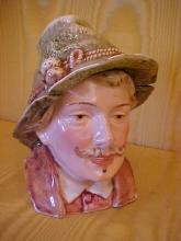 German bust porcelain tobacco jar
