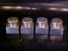 George Washington, personally designed Set of 4 Sterling silver shakers. Mt. Vernon