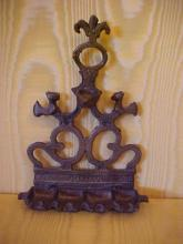 Judaica 18th-19th century Menorah Bronze oil  burner from Beekman estate NYC