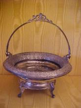 Derby silverplated victorian bride's basket