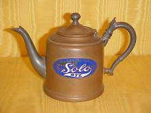 Copper and pewter teapot Solo Rye