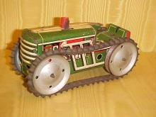 Tin litho toy tractor by Marx