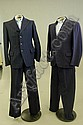 A group of 1940s menswear, comprising: four suits