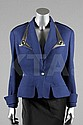 A Thierry Mugler blue textured cotton jacket with
