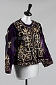 An embroidered purple velvet jacket, Ottoman, late