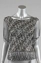 A Loris Azzaro silver crochet and chain fringed