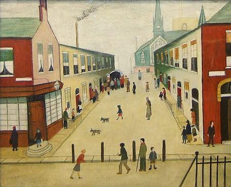 HILDA G GOODMAN (AFTER L S LOWRY), OIL,