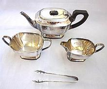 An early 20th Century Silver Plated Three Piece