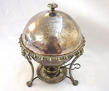 An early 20th Century Silver Plated Egg Coddler,
