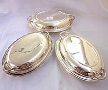 A pair of early 20th Century Silver Plated Entrée